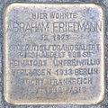 Stolperstein Abraham Friedmann by 2eight 3SC1520.jpg