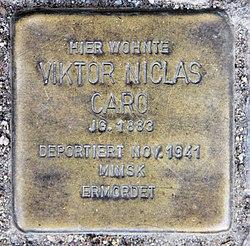 Photo of Viktor Niclas Caro brass plaque