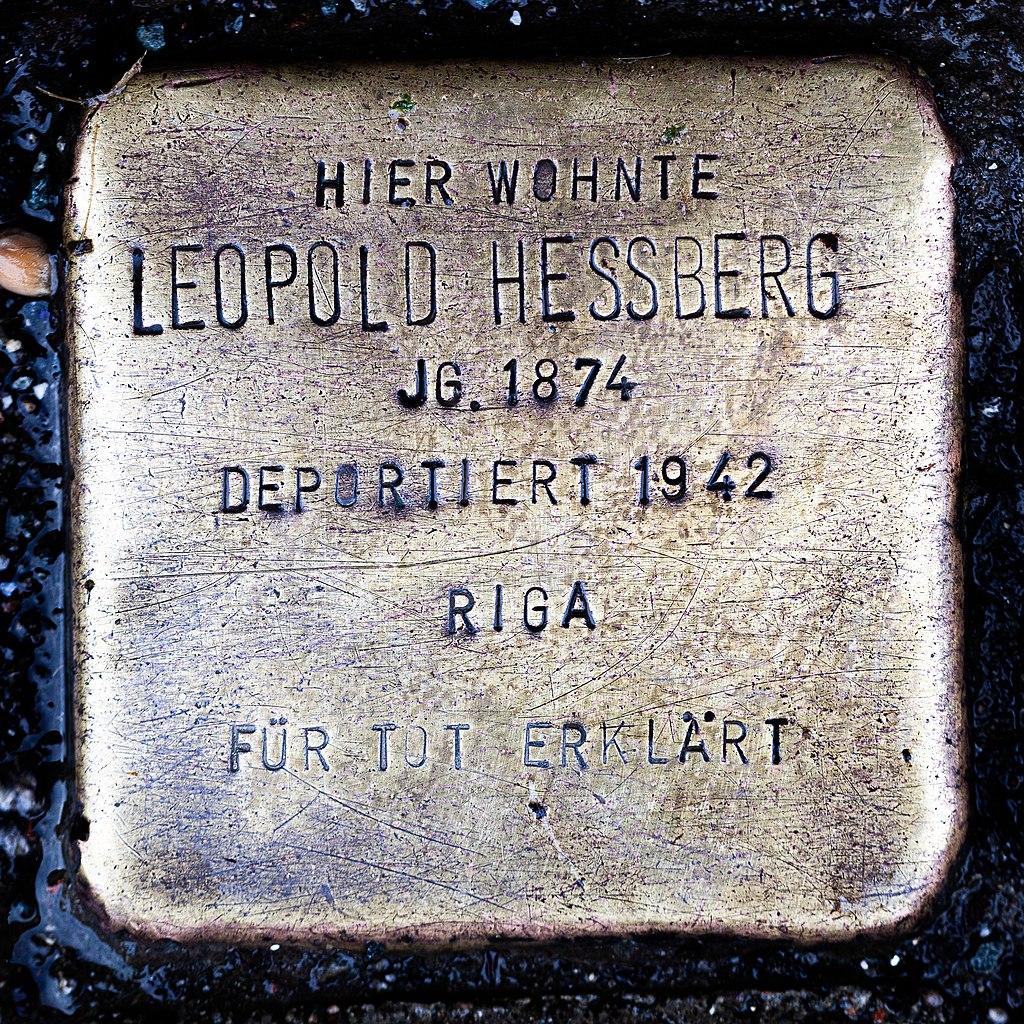 Stolperstein CC Leopold Hessberg 1874-1942.jpg