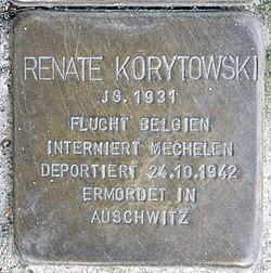 Photo of Renate Korytowski brass plaque