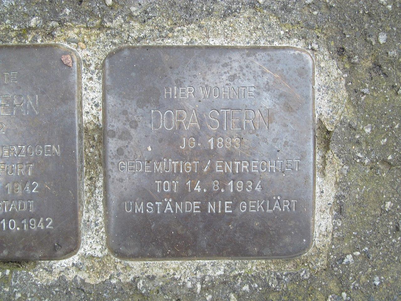 Stolperstein Dora Stern, 1, Lange Straße 14, Oberbrechen, Brechen, Landkreis Limburg-Weilburg.jpg