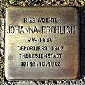 Stolperstein Johanna Fröhlich (Griedeler Str.19 Butzbach).jpg
