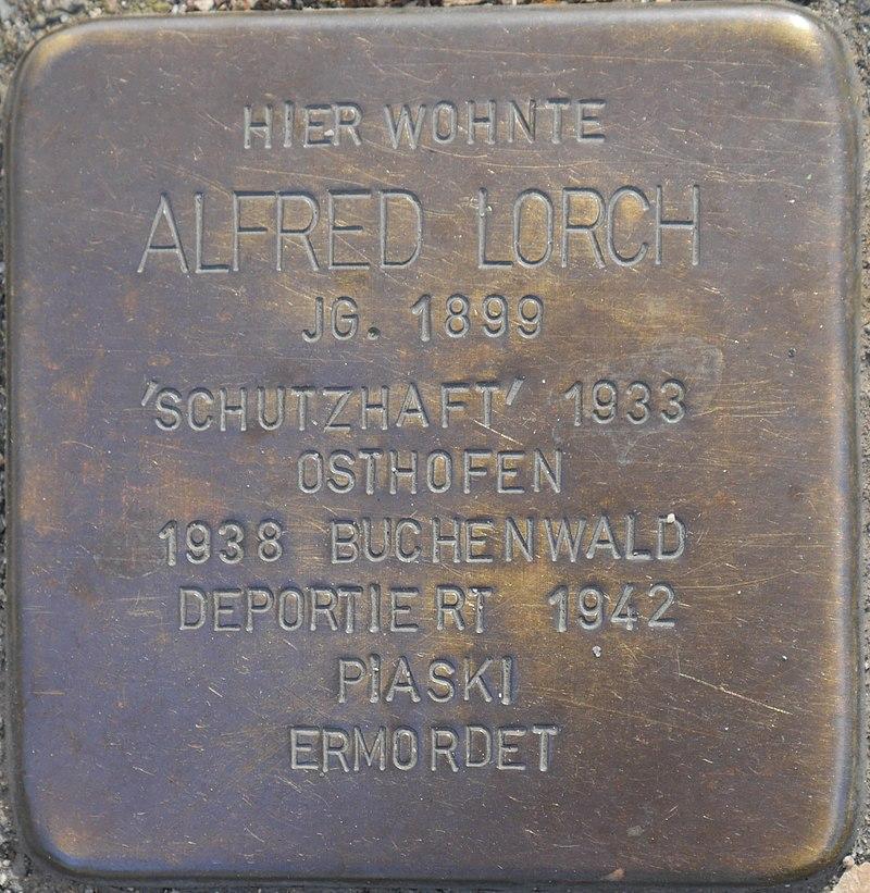 Stolperstein für Alfred Lorch