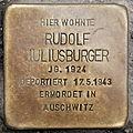 Stolperstein Rudolf Juliusburger Heinz-Galinski-Straße 1 0089.JPG