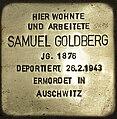 Stolperstein Schönwalder Straße 111 Spandau Samuel Goldberg 2012-10-23.jpg