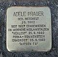 Stolperstein für Adele Prager, Flemmingstraße 8, Chemnitz (1).JPG