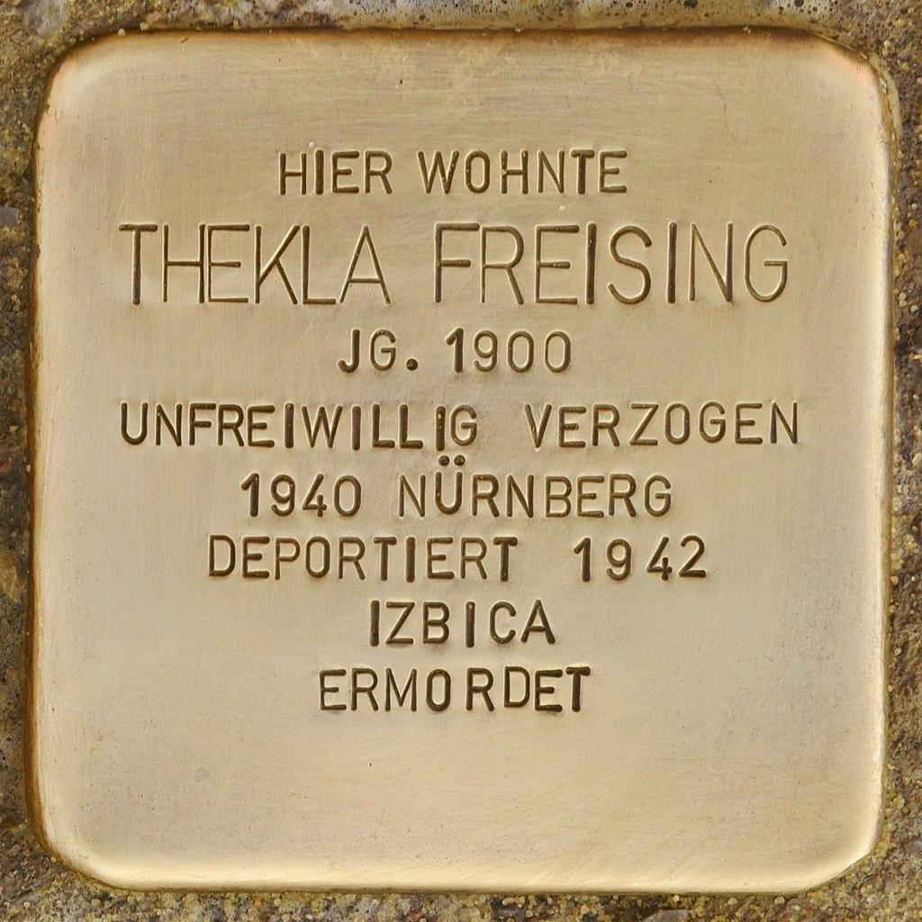 Stolperstein für Thekla Freising (Mühlhausen in der Oberpfalz).jpg