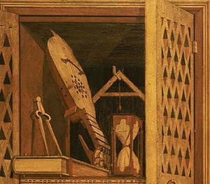 Federico da Montefeltro - Detail of the Studiolo di Gubbio of Federico da Montefeltro