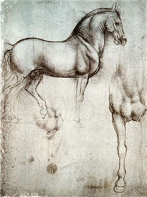 Leonardo's horse - Leonardo da Vinci's study of horses