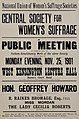 Suffrage meetings and events- Central Society For Women's Suffrage- A Public Meeting In Connection With The Fulham Constituency Work25 Nov 1901 (22475003083).jpg