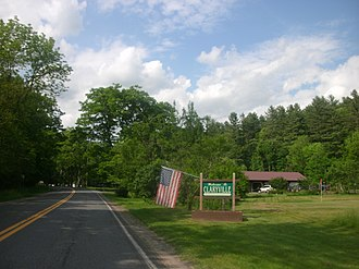 Neversink, New York - Entering the hamlet of Claryville as seen from northbound County Route 19