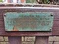 Summerfield Hospital WVS bench - 2021-01-13 - Andy Mabbett - 01.jpg