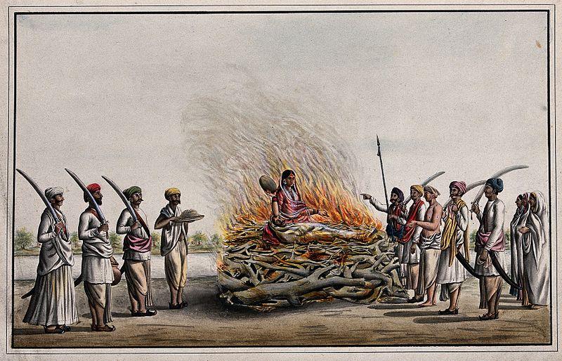 Governor General William Bentinck and the evil custom of ''Sati'' - British India