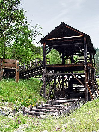 Ausonius - Modern reconstruction of Sutter's Mill, a water-powered 19th century Californian sawmill.