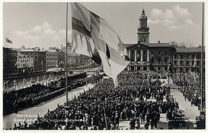 Gustaf Adolfs torve i Göteborg ved Jubileumsfesten 1923
