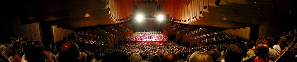 The interior of the Concert Hall at the Sydney Opera House