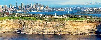 Vaucluse, New South Wales - View of Vaucluse from the Tasman Sea.