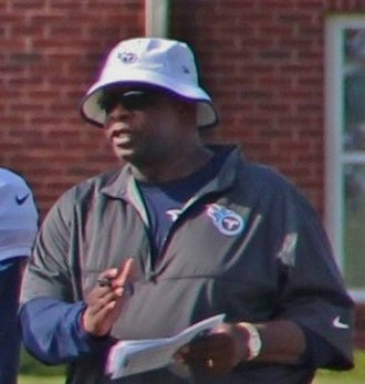 Sylvester Croom - Croom at Tennessee Titans training camp in 2014.