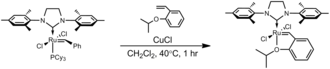 Grubbs' catalyst - Preparation of the Hoveyda–Grubbs catalyst from the second–generation Grubbs catalyst