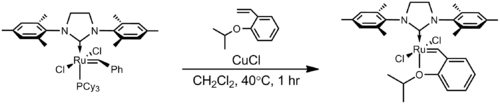 Preparation of the Hoveyda–Grubbs catalyst from the second–generation Grubbs catalyst