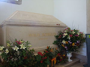 Amália Rodrigues - Tomb of Amália Rodrigues with fresh flowers in the National Pantheon, Lisboa