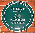 T.S. Eliot plaque on Crawford Mansions, Homer Row, London.jpg
