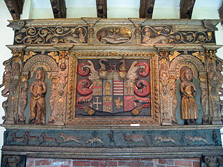 Chimney-piece from Tabley Old Hall