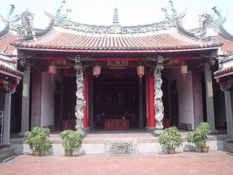 Temples of Taichung - Entrance to the main shrine in the temple.