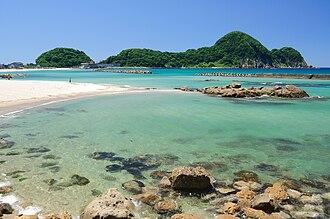 San'in Kaigan Geopark - Image: Takenohama Hyogo 001