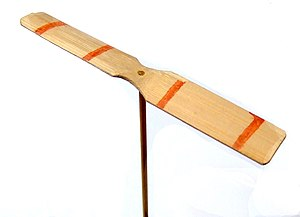 Propeller (aeronautics) - A decorated Japanese taketombo bamboo-copter