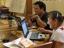 During the Mayan Wikipedia workshop