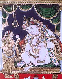 Bala Krishna Tanjore Painting
