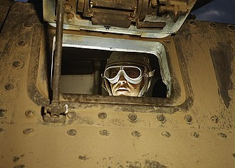 Fort Knox - A tank driver at Fort Knox in 1942