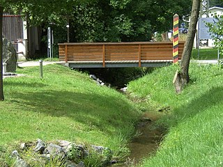Tannbach (Saale) River in Germany
