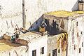 Tannerie in Fez men workin on a roof.jpg