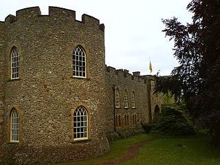 fortified castle in the Somerset