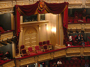 Teatro Real - the royal box of the theatre.
