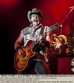 Ted Nugent - Nugent performing on July 31, 2013
