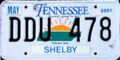 Tennessee 2001 license plate.png