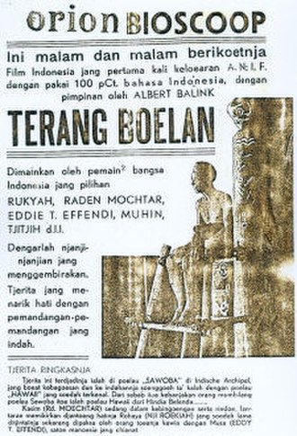 Cinema of Indonesia - Poster for Terang Boelan, one of three films credited with reviving the Indies' failing film industry