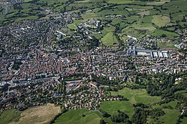 An aerial view of Aurillac