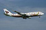 "Thai Airways International Boeing 747-4D7 HS-TGJ ""Hariphunchai"" ""Royal Barge"" colors (23924343651).jpg"