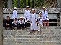Thai Muslim Boys on Steps of Madrassah (Islamic school) in Koh Lanta, Thailand.jpg