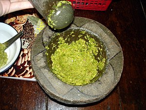 Green curry - Image: Thai green curry paste