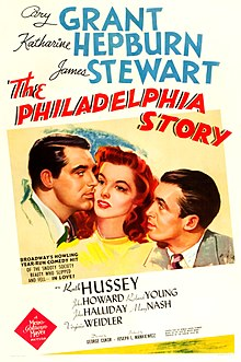 Image result for the philadelphia story movie poster