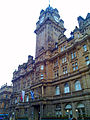 The Balmoral - British and Scottish flags in Edinburgh.jpg
