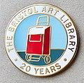 The Bristol Art Library twentieth year commemorative badge.jpg