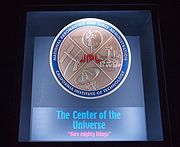 The Center of the Universe plaque at Space Flight Operations Facility
