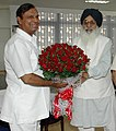 The Chief Minister of Punjab, Shri Prakash Singh Badal calls on the Union Minister for Shipping, Road Transport and Highways, Shri T. R. Baalu, in New Delhi on June 22, 2007.jpg