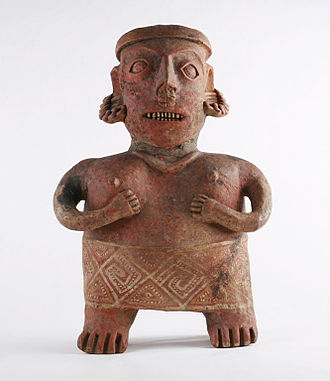 Huichol people - A Nayarit tomb figure in the permanent collection of The Children's Museum of Indianapolis.